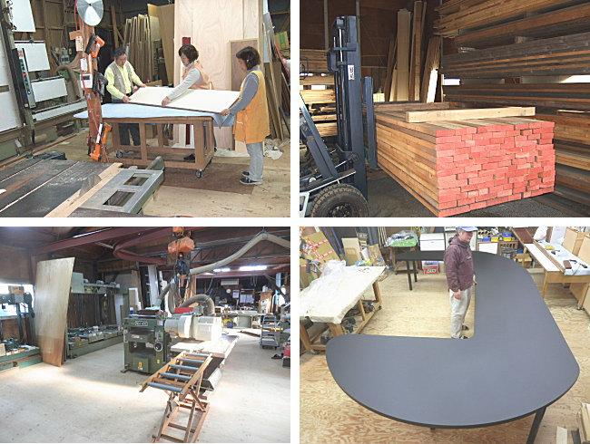 天板 棚板 化粧板製作工場 弘形工芸