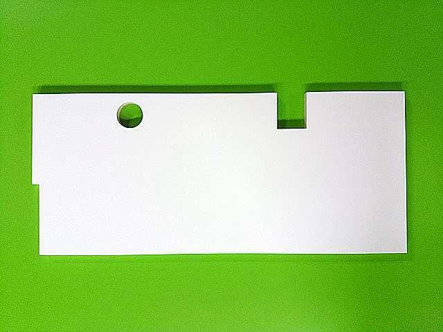 配線や柱型切り欠き加工 化粧棚板オーダー