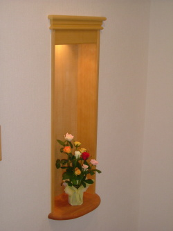 ニッチ 壁埋め込み飾り棚